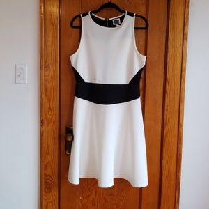 Size 14 black and white dress